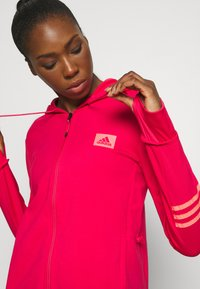 adidas Performance - Zip-up hoodie - power pink/signal pink - 3
