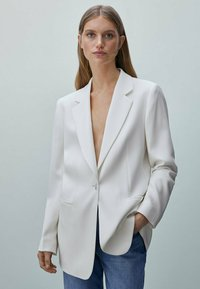 Massimo Dutti - MIT GÜRTEL  - Short coat - white - 0