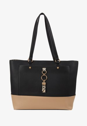 POCKET FRONT SHOPPER - Handbag - black/stone