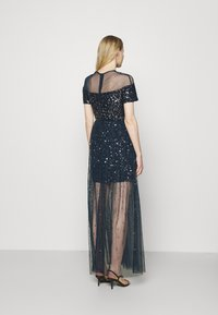 Maya Deluxe - ALL OVER EMBELLISHED MAXI DRESS WITH MINI LINING - Occasion wear - navy - 2
