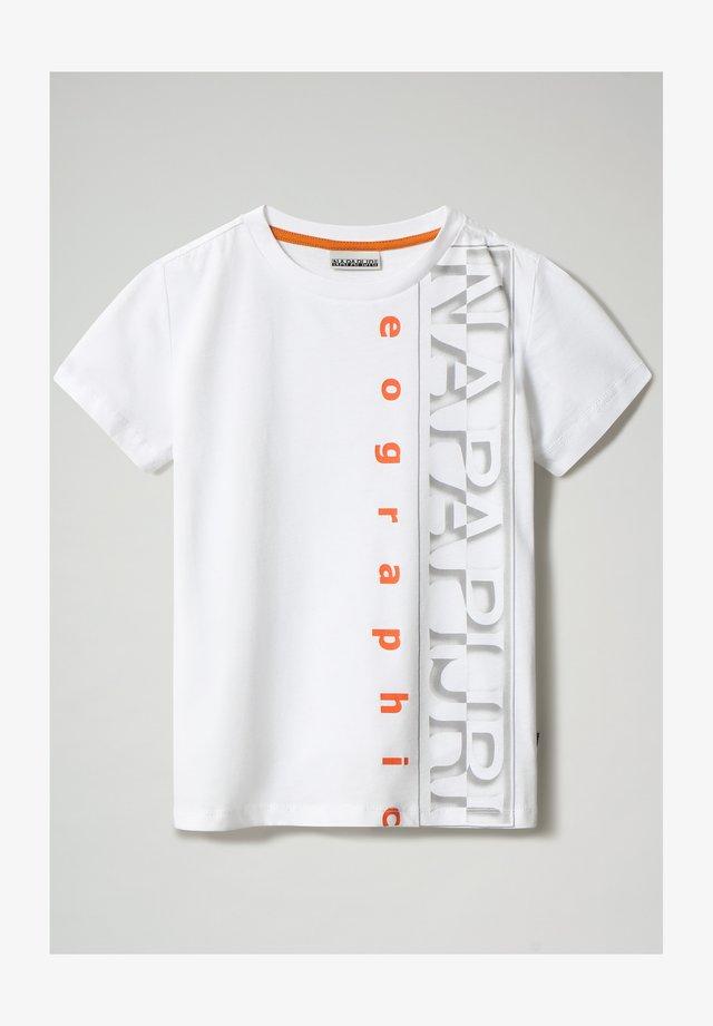 SADYR LOGO - T-shirt print - bright white