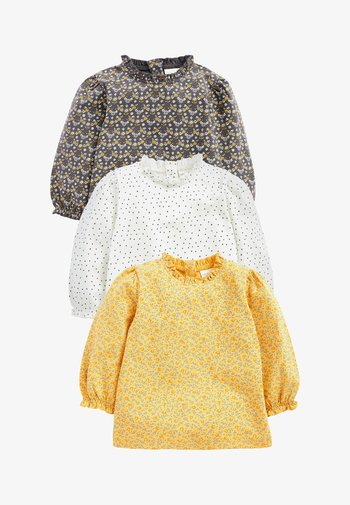 3 PACK - Long sleeved top - yellow