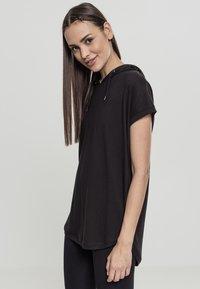 Urban Classics - LADIES SLEEVELESS HOODY - Print T-shirt - black - 2