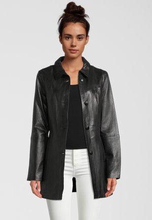 GUNDI - Leren jas - black