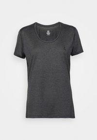 AGILE TEE - Funktionsshirt - ebony/black/heather