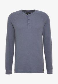 Abercrombie & Fitch - WAFFLE HENLEY - Camiseta de manga larga - blue - 3