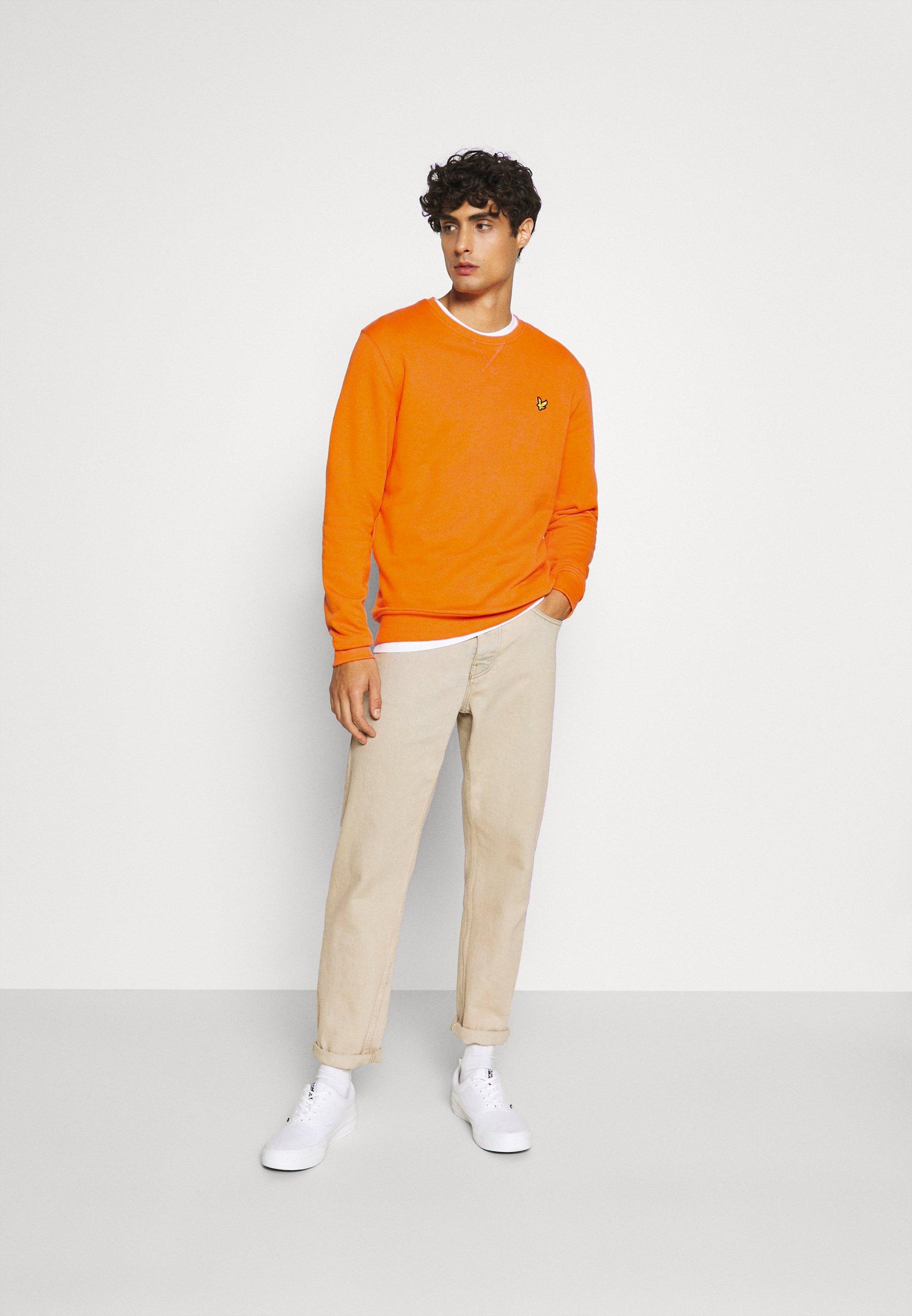 Lyle & Scott Crew Neck - Sweatshirt Risk Orange/oransje