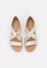 Office - HALLIE - Wedge sandals - gold - 5