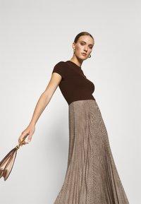 Polo Ralph Lauren - PAPA SHORT SLEEEVE DAY DRESS - Jumper dress - brown - 3
