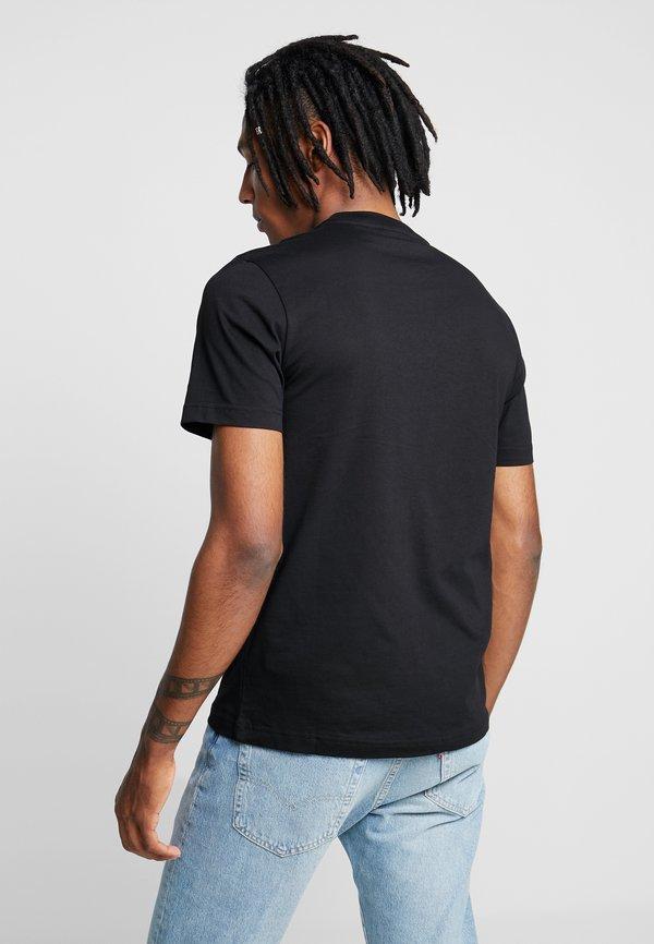 Calvin Klein FRONT LOGO 2 PACK - T-shirt z nadrukiem - black/white/czarny Odzież Męska RYFO