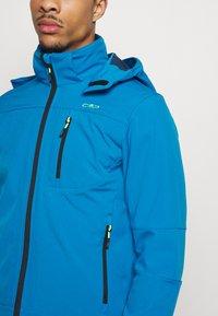 CMP - MAN JACKET ZIP HOOD - Soft shell jacket - river blue ink - 3