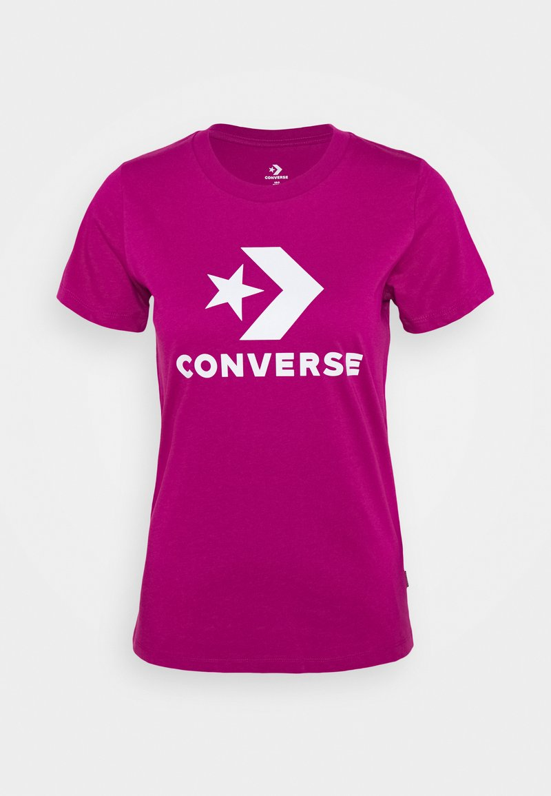 Converse - STAR CHEVRON LOGO TEE - T-shirt imprimé - cactus flower