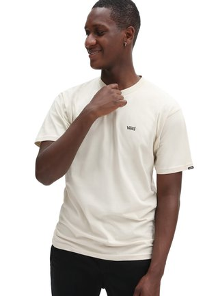 MN LEFT CHEST LOGO TEE - Print T-shirt - oatmeal/black