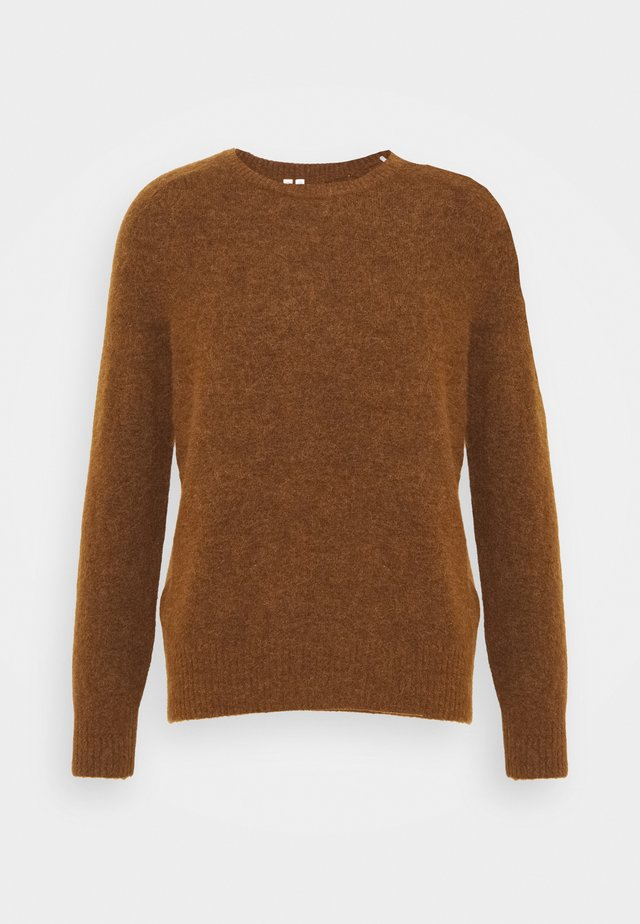 ALPACA & MERINO CREW NECK JUMPER - Jumper - brown medium dusty