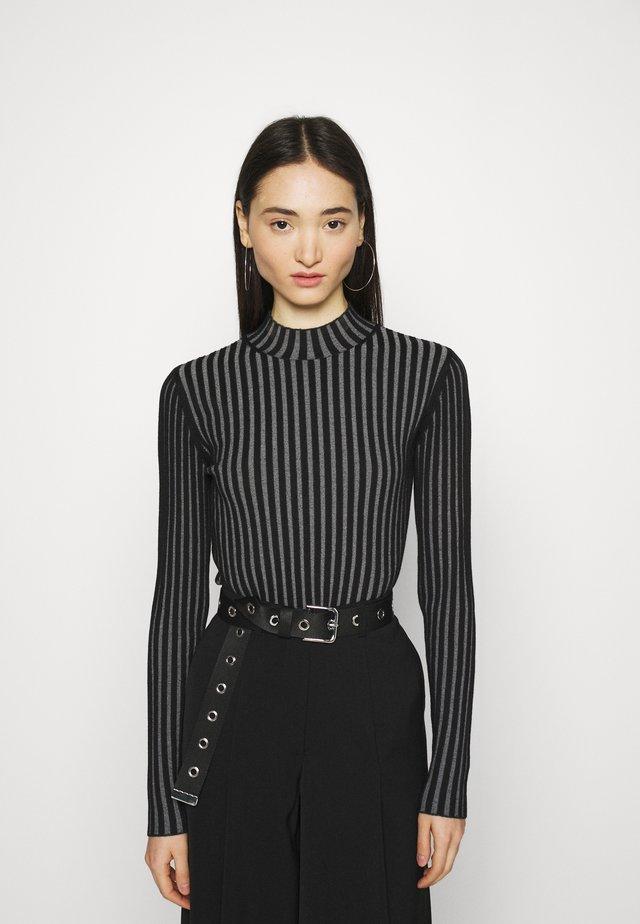 KIMBER - Sweter - grey/black