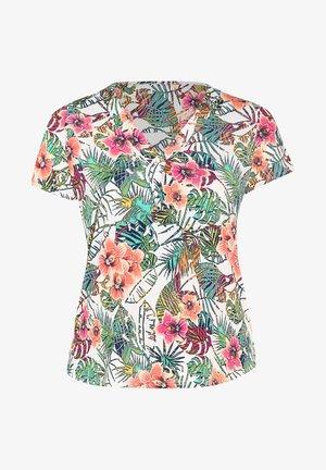 MIT TROPIC-PRINT AUS KÜHLEM MATERIAL - Print T-shirt - multicolor