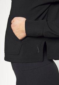 Nike Performance - YOGA HOODIE - Long sleeved top - black/dark smoke grey - 5