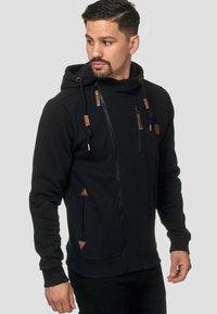 INDICODE JEANS - ELM - Zip-up hoodie - black - 4