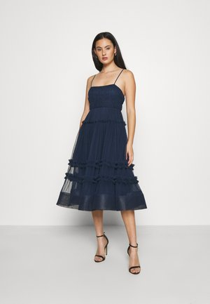 SHAY MIDI DRESS - Vestido de cóctel - navy