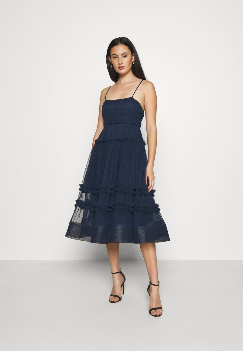 Lace & Beads - SHAY MIDI DRESS - Cocktailkjole - navy