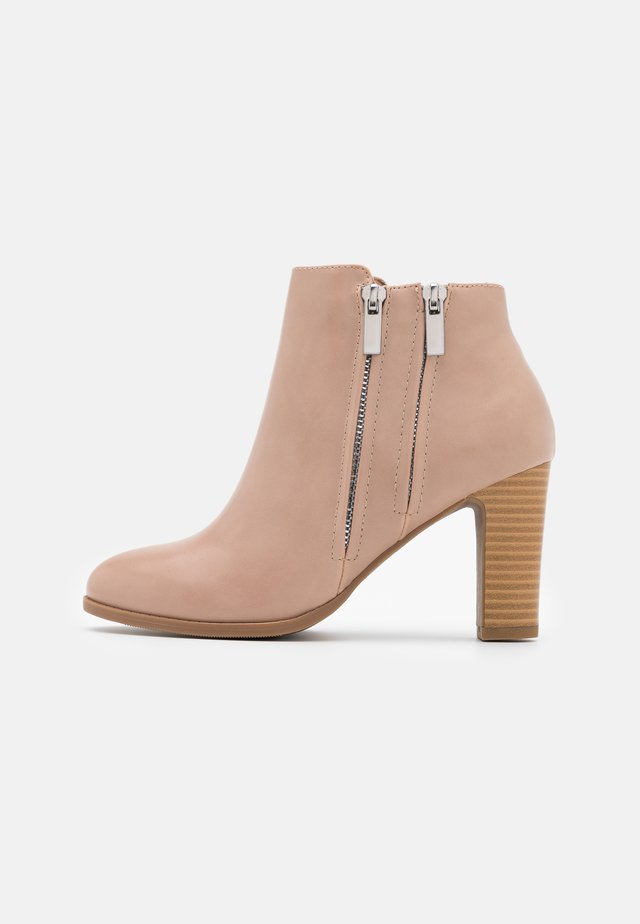 ASUMA - High heeled ankle boots - nude
