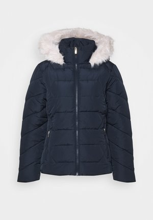 SHORT LENGTH HOODED COAT - Winter jacket - navy