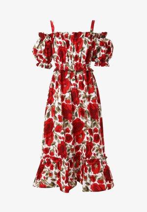 CERCANA - Korte jurk - milchig, rot