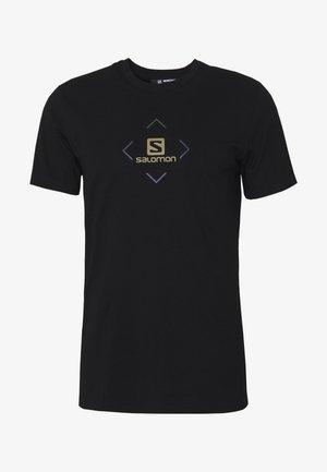 LOGO TEE - T-shirt con stampa - black/ebony/martini olive