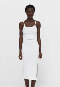 Stradivarius - Pencil skirt - white - 0