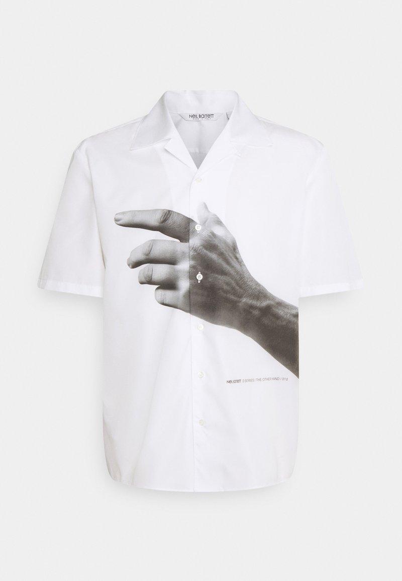 Neil Barrett - THE OTHER HAND SERIES HAWAIIAN SHIRT - Shirt - white/greys