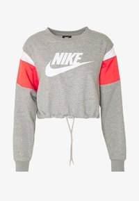dark grey heather/track red/white