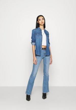 ONLROCK LIFE - Button-down blouse - medium blue denim