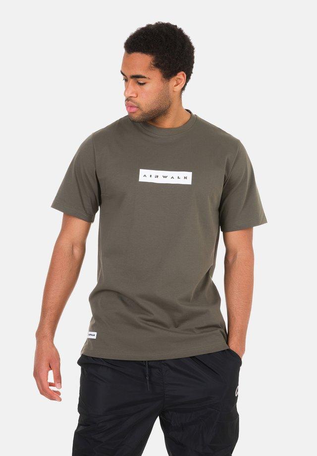 Print T-shirt - stein