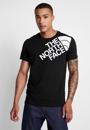 SHOULDER LOGO TEE - Triko s potiskem - black/white