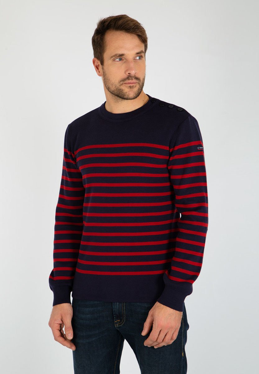 Homme PULL MARIN RAYÉ GROIX - Pullover