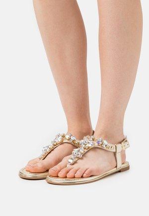 VEGAN RHONDA - T-bar sandals - gold