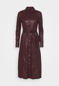DRESS - Shirt dress - dark chocolate