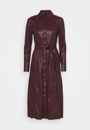 DRESS - Skjortekjole - dark chocolate