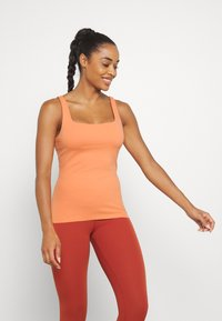 Nike Performance - THE YOGA LUXE TANK - Top - healing orange/apricot agate - 0