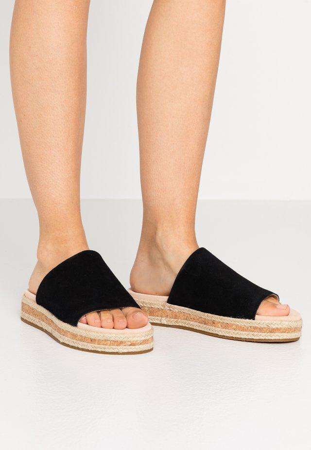 BOTANIC IRIS - Pantolette flach - black