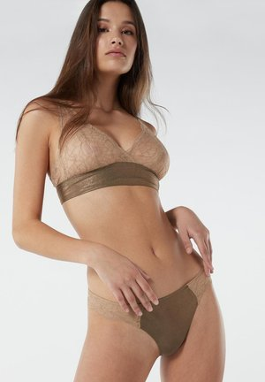 Thong - grün - natural beige/agave green