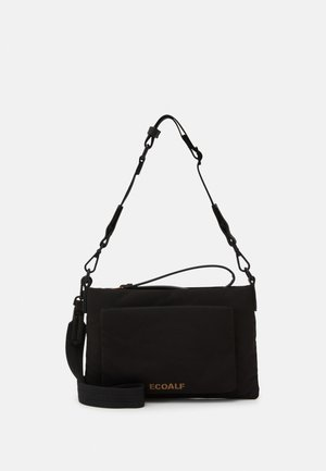 MID FLAT CLUTH - Borsa a tracolla - black