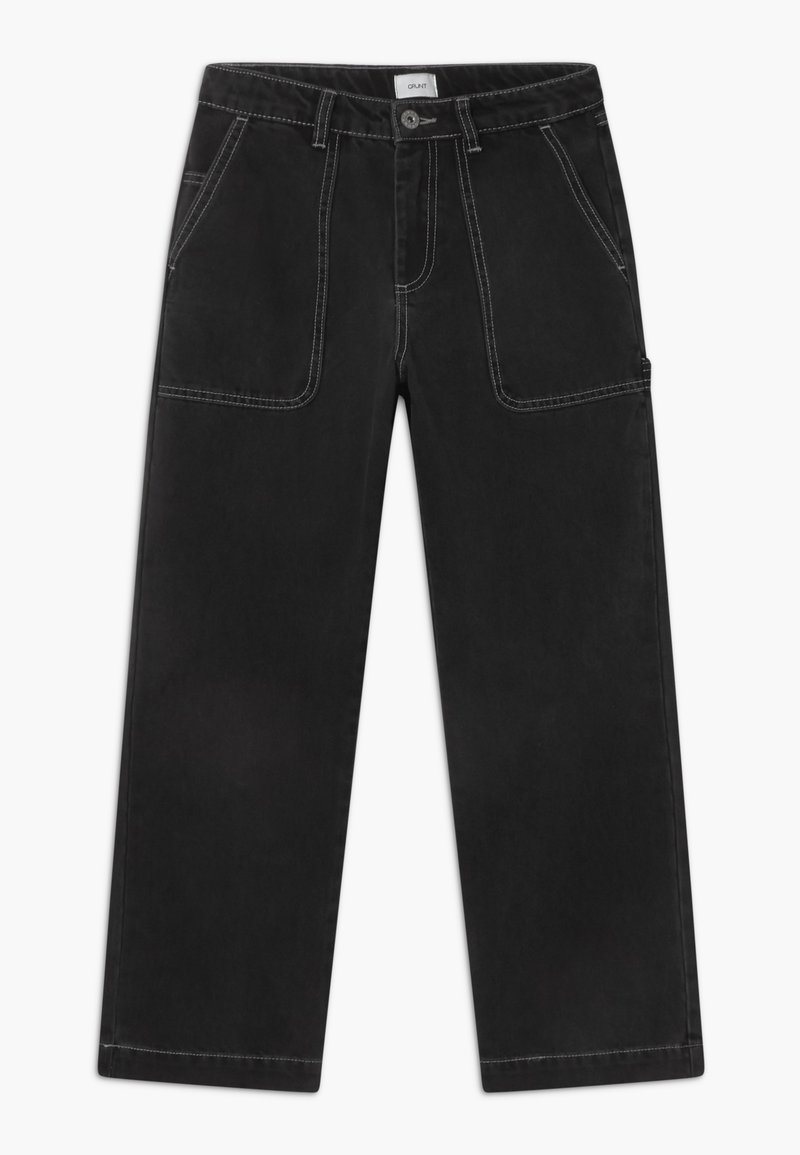 Grunt - WIDE WORKER - Relaxed fit jeans - night black
