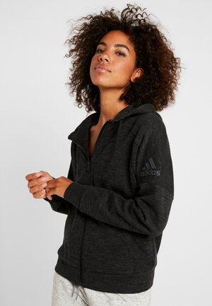 veste en sweat zippée - black/grey six