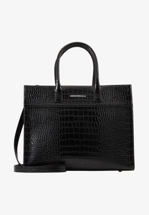 VERONICA TOP HANDLE TOTE CROCO - Kabelka - black