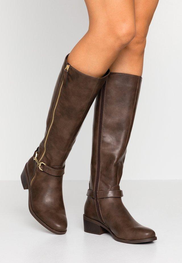 KEEN SNAFFLE TRIM RIDER - Vysoká obuv - chocolate