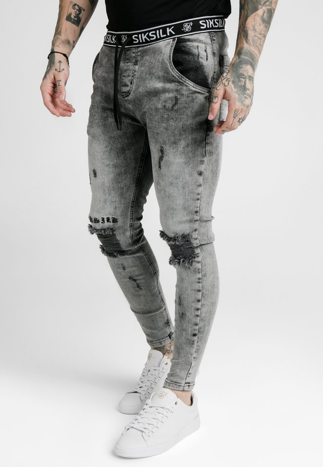DISTRESSED - Jeans Skinny Fit - snow wash