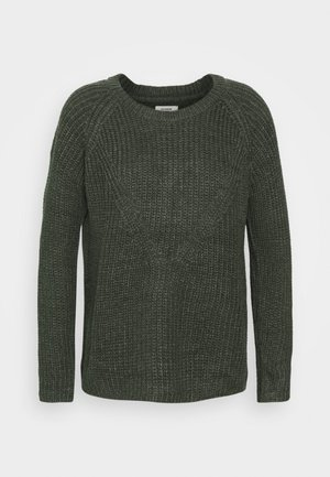 JDYNEW JUSTY - Jumper - dark grey melange