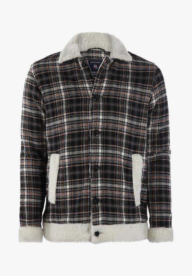 Summer jacket - black-white