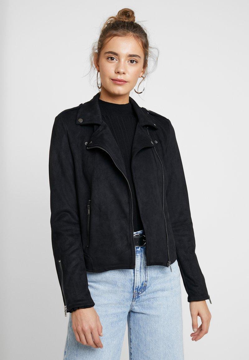 Vila - VIFADDY JACKET - Faux leather jacket - black